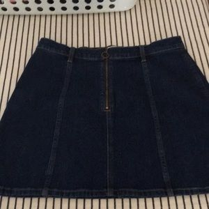 J crew denim mini skirt . Brand new .
